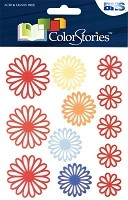 Blue Hills Studio - Color Stories - Red Daisy Gel Stickers