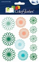 Blue Hills Studio - Color Stories - Green Daisy Gel Stickers