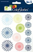Blue Hills Studio - Color Stories - Blue Daisy Gel Stickers
