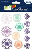 Blue Hills Studio - Color Stories - Purple Daisy Gel Stickers