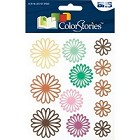 Blue Hills Studio - Color Stories - Brown Daisy Gel Stickers