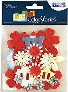 Blue Hills Studio - Color Stories - Red Potpourri Flowers