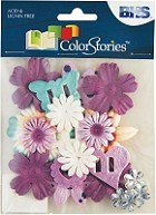 Blue Hills Studio - Color Stories - Purple Potpourri Flowers