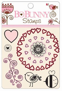 Bo Bunny Crazy Love - Clear Stamp