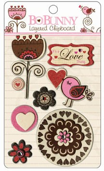 Bo Bunny Crazy Love - iCandy 3D Chipboard
