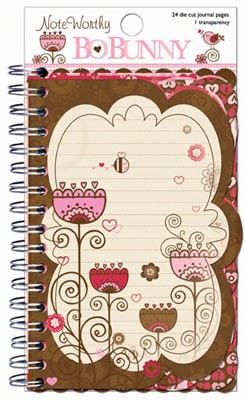 Bo Bunny Crazy Love - Note Worthy (spiral bound journal book)