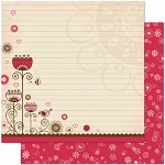 Bo Bunny Crazy Love - Double Sided Paper - Crazy Love