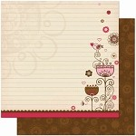 Bo Bunny Crazy Love - Double Sided Paper - Happy Together