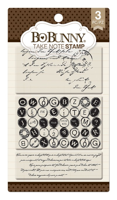 Bo Bunny - Clear Stamps - Take Note Stamp