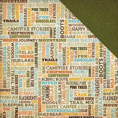 "Bo Bunny - Take a Hike Collection - Happy Trails 12""x12"" cardstock"
