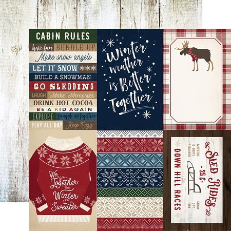 "Carta Bella - Cabin Fever Collection - 12""x12"" Cardstock - 4""X6"" Journaling Cards"