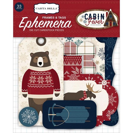 Carta Bella - Cabin Fever Collection - Die Cut Tags & Frames