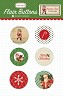 Carta Bella - Christmas Time Collection by Carina Gardner - Flair buttons (adhesive badges)