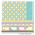 "Carta Bella -  Cool  Summer Collection by Samantha Walker - 12""x12"" Cardstock Stickers Sheet - Alphabet"