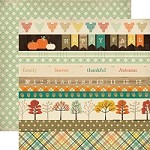 "Carta Bella - Fall Blessings Collection - 12""x12"" cardstock - Border Strips"