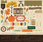 "Carta Bella - Fall Blessings Collection - 12""x12"" Sticker Sheet"