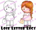 C.C. Designs - Cling Mounted Rubber Stamp - Swiss Pixie Love Letter