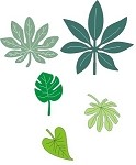 Cheery Lynn Designs - Shape Die - Tropical Leaves