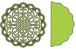 Cheery Lynn Designs - DIE - Turkish Lace Doily with Angel Wing