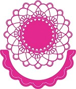 Cheery Lynn Designs - DIE - Felicity Doily with Angel Wing