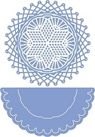 Cheery Lynn Designs - DIE  - Rum Punch Doily with Angel Wing