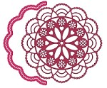 Cheery Lynn - Die - Cape Cod Doily w/ Angel Wing