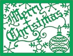 Cheery Lynn Designs - DIE - Merry Christmas Card