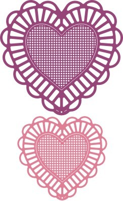 Cheery Lynn - Doily Die - Two of Hearts