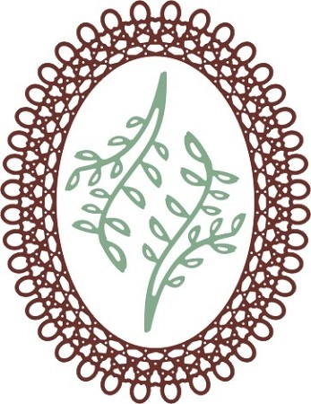 Cheery Lynn - Doily Die - Japanese Garden Lace Oval