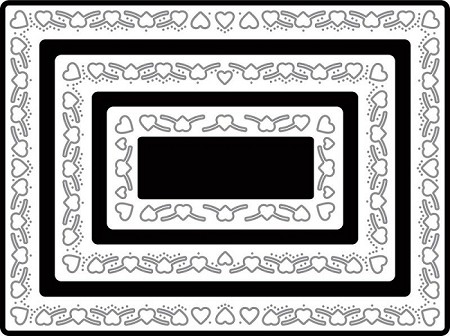 Cheery Lynn Designs - cutting die - Heart Rectangle Boutique Stacker ...