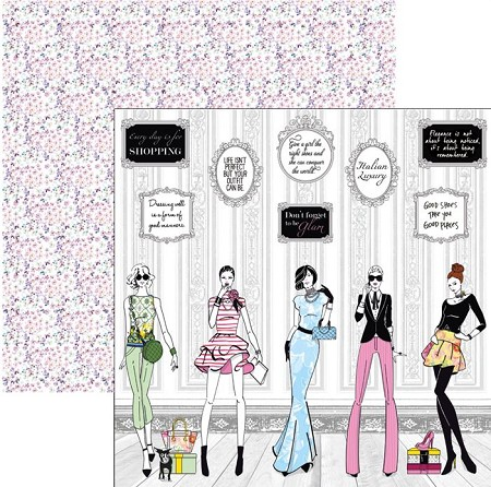 Ciao Bella - Italian Luxury collection - 12x12 Cardstock - Fashion house