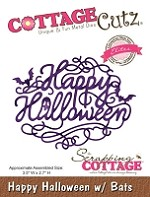 Cottage Cutz - Die - Happy Halloween w/ Bats (Elites)