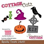 Cottage Cutz-4x4 Die-MLS-Spooky Treats