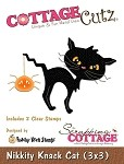 Cottage Cutz-Peechy Keen Dies (w/clear stamps)3x3-Nikkity Knack Cat