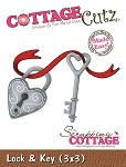 Cottage Cutz-3x3 Dies-Heart Lock & Key