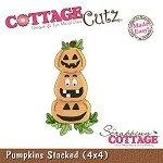 Cottage Cutz-4x4 Dies-Stacked Pumpkins