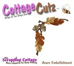 Cottage Cutz-4x4 Dies-Oak Leaf Corner