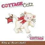 Cottage Cutz-4x4 Dies-Love Kitten