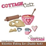 Cottage Cutz-4x4 Dies-Valentine Baking Set (double die)