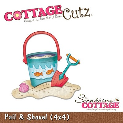 Cottage Cutz-4x4 Dies-Pail & Shovel