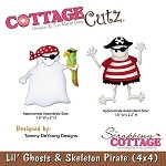 Cottage Cutz-4x4 Dies-Lil' Ghost & Skeleton Pirate