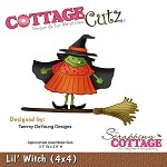 Cottage Cutz-4x4 Dies-Lil' Witch