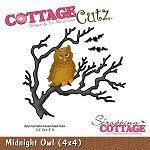 Cottage Cutz-4x4 Dies-Midnight Owl