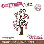 Cottage Cutz- Valentine Series-4x4 Die-Flourish Tree