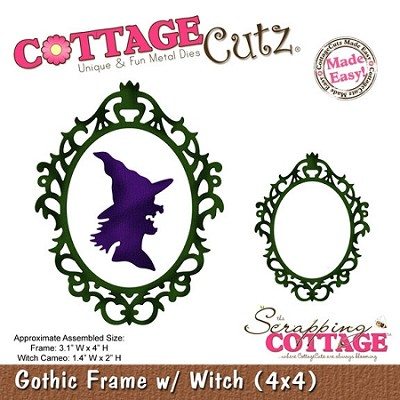 Cottage Cutz-Die-Gothic Frame w/Witch