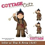 Cottage Cutz-Die-Indian w/Bow & Arrow