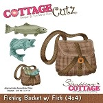 Cottage Cutz Die - Fishing Basket w/Fish