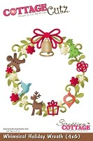 "Cottage Cutz - 4""x6"" die - Whimsical Holiday Wreath"