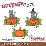 Cottage Cutz - Die - Cat on Pumpkin