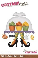 Cottage Cutz - Die - Witch Cake Plate